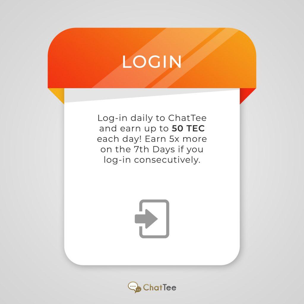 ChatTee – Login Bonus