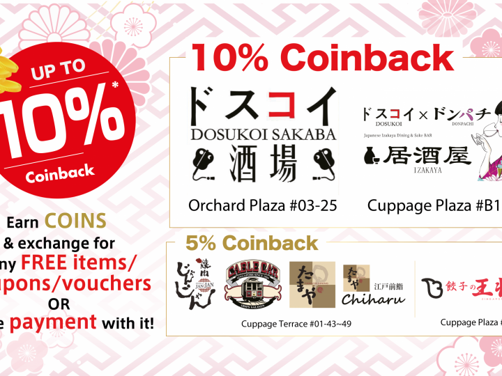 New Up to 10% Coinback Promotion